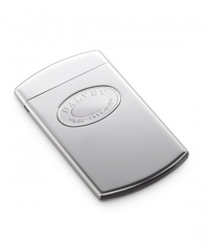 Classic Business Card Case Stainless Detail