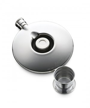 Dalvey Flask With Cup Stainless Detail