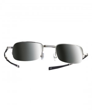 X Compact Sunglasses Green Mirrored Lens