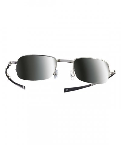 Compact Sunglasses Green Mirrored Lens