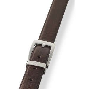X Classic Leather Belt Brown Caviar Leather