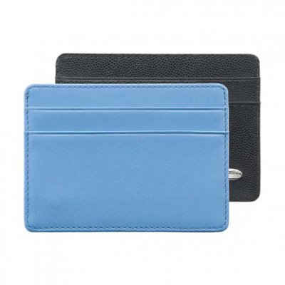 Dress Wallet Black Caviar With Blue