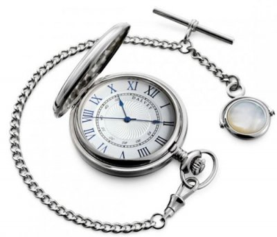 Full Hunter Pocket Watch & Albert Chain
