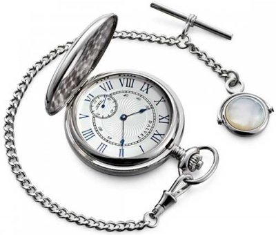 Half Hunter Pocket Watch & Albert Chain