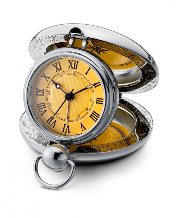 Voyager Clock Yellow