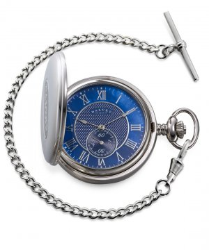 Full Hunter Pocket Watch Blue Mother Of Pearl
