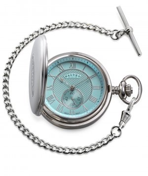 Full Hunter Pocket Watch Turquoise