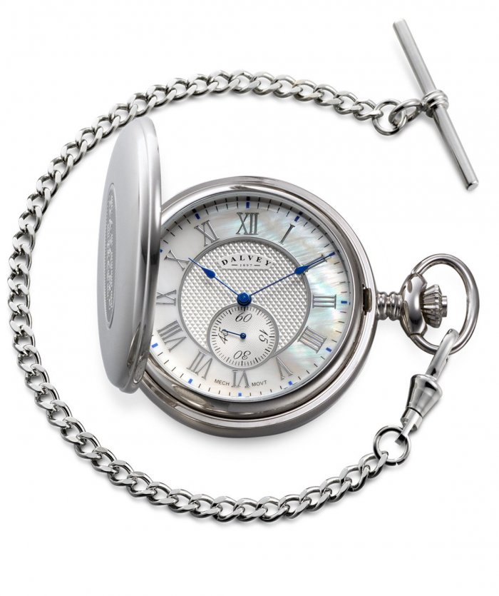 Full Hunter Pocket Watch Mother Of Pearl