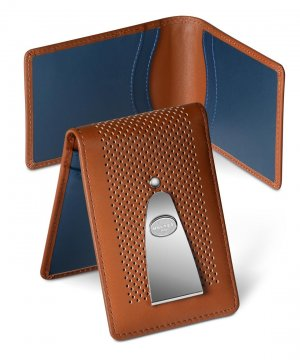 Insignia Wallet Tan And Blue