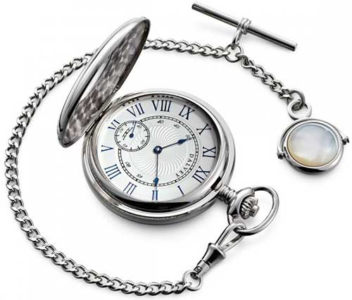 X Half Hunter Pocket Watch & Albert Chain